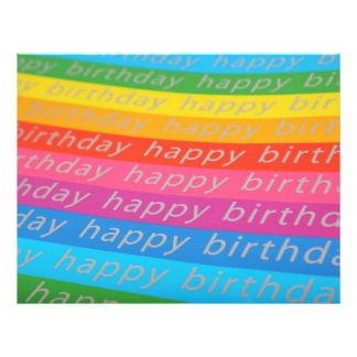 """Happy Birthday Background 8.5"""" X 11"""" Flyer"""