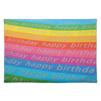 Happy Birthday Background Cloth Placemat