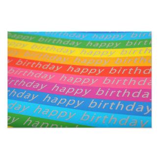 Happy Birthday Background Photographic Print