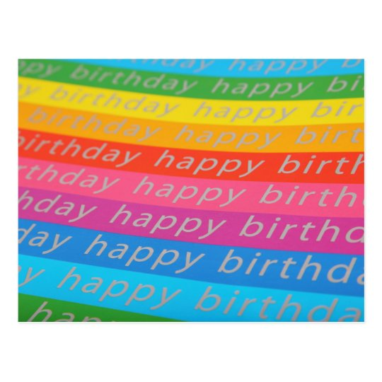 Happy Birthday Background Postcard