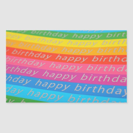 Happy Birthday Background Rectangular Sticker