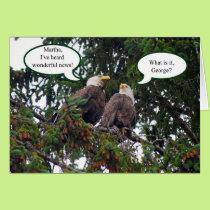 Happy Birthday, Bald Eagles Card