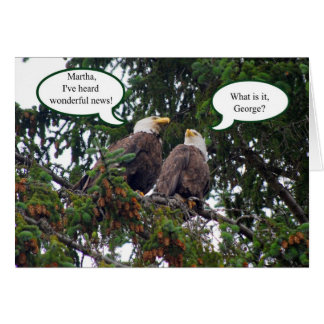 Happy Birthday, Bald Eagles Card