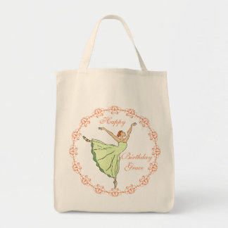 Happy Birthday Ballerina Tote Bags