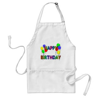 Happy Birthday Ballons D1 Cooking Apron