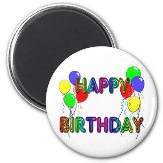 Happy Birthday Ballons D1 Magnet