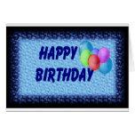 Happy Birthday Ballons Greeting Card