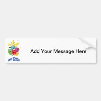 Happy Birthday Balloon Bunch Bumper Sticker