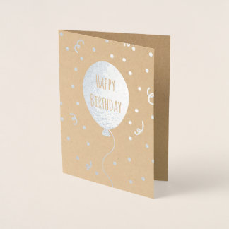 Happy Birthday Balloon & Confetti Foil Card