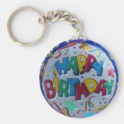 Happy Birthday balloon keychain