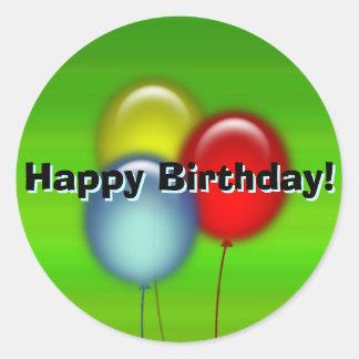 Happy Birthday Balloon Sticker