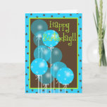 "Happy Birthday Balloon Wishes! Card<br><div class=""desc"">What better than a bunch of balloons to say Happy Birthday? This trendy blue and brown Happy Birthday card is cute and appropriate for any age.</div>"