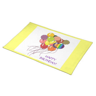 Happy Birthday Balloons American MoJo Placemat