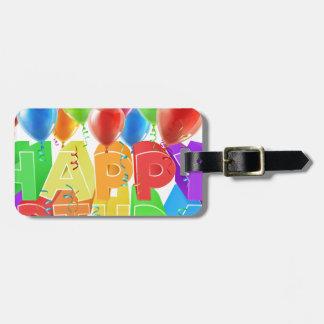 Happy Birthday Balloons Bag Tag