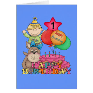 1 Year Old Boy Cards Greeting Photo Cards Zazzle 1 Year Happy Birthday Wishes