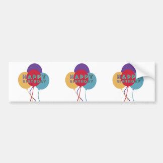 Happy Birthday Balloons Bumper Sticker