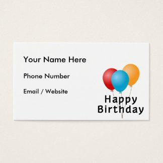 Happy Birthday Balloons Business Card