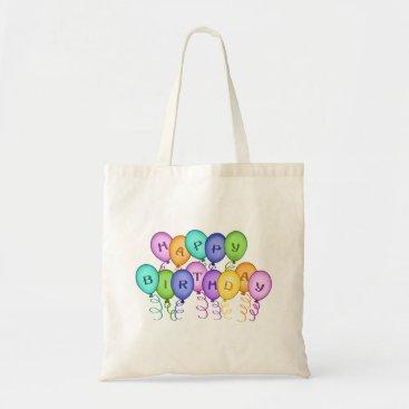 birthday Happy Birthday Balloons Canvas Bag