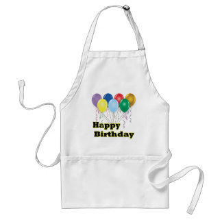 Happy Birthday Balloons D3 Cooking Apron