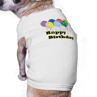 Happy Birthday Balloons D3 Dog Clothes