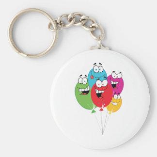 Happy Birthday Balloons Keychain