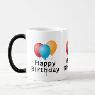 Happy Birthday Balloons Magic Mug