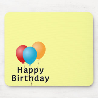 Happy Birthday Balloons Mouse Pad
