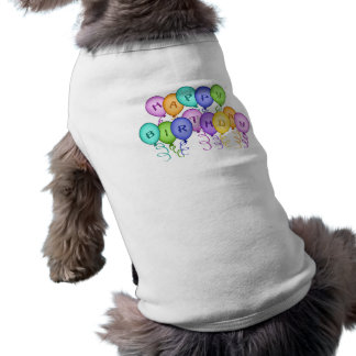 Happy Birthday Balloons Pet Clothing