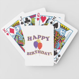 Happy Birthday Balloons Bicycle Playing Cards