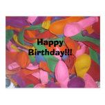 Happy Birthday balloons Post Cards
