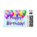 Happy Birthday Balloons stamp