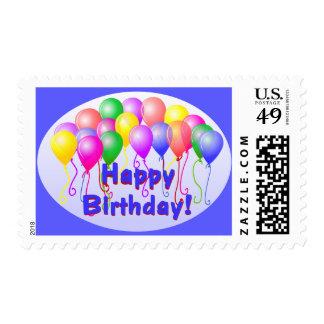 Happy Birthday Balloons Stamps