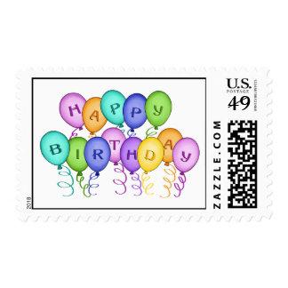 Happy Birthday Balloons Postage Stamp