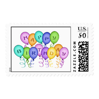 Happy Birthday Balloons Postage Stamp