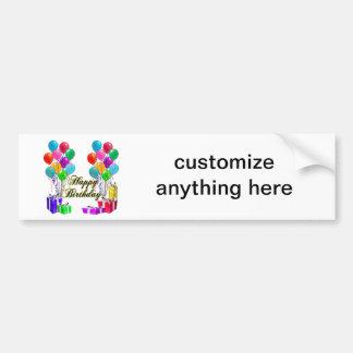Happy Birthday Balloons & Presents Bumper Sticker