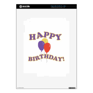 Happy Birthday Balloons Skins For The iPad 2