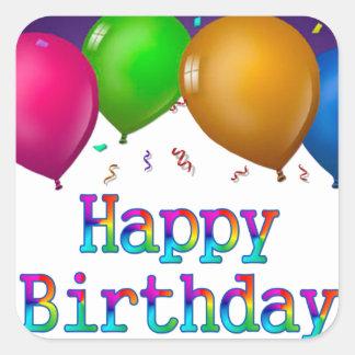 Happy Birthday Balloons Sticker