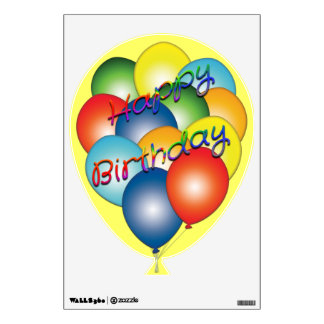 Happy Birthday Balloons Wall Decal