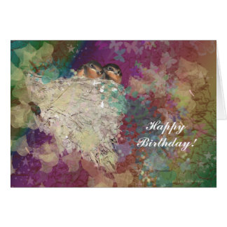 Happy Birthday Barn Swallows Birders Nature Lover Cards