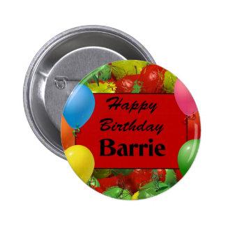 Happy Birthday Barrie Button
