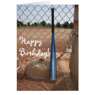 Happy Birthday baseball bat greeting card