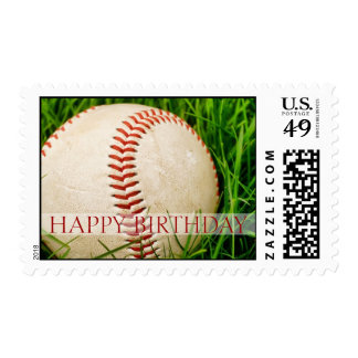 Happy Birthday Baseball Postage