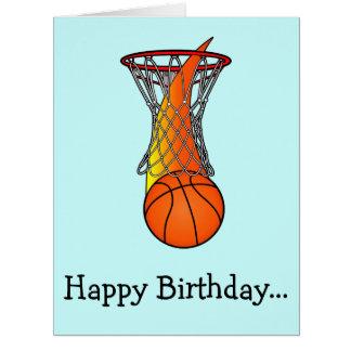 Basketball Birthday Large Greeting Cards | Zazzle