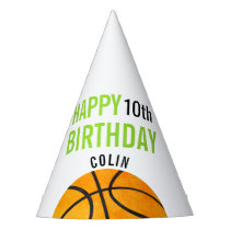 Happy Birthday Basketball Sports Kids Personalized Party Hat