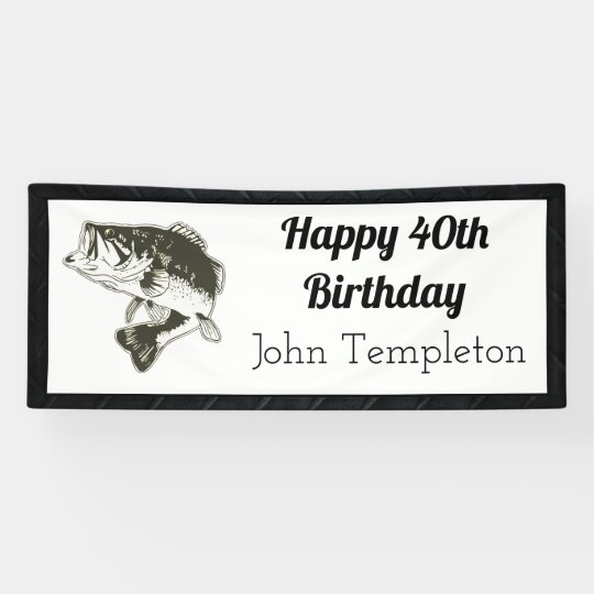Happy Birthday Bass Fishing Mens Banner Zazzlecom