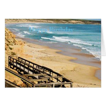 Beach Themed Happy Birthday Beach_Boardwalk,_Greeting Card