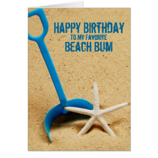 Happy Birthday Beach Bum Card