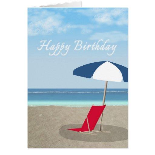 Birthday Card Sayings Beach : Happy birthday beach greeting cards zazzle