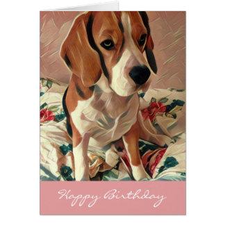 Happy Birthday Beagle Dog Birthday Card
