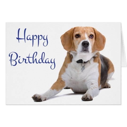 Happy Birthday Beagle Puppy Dog Greeting Card – Dog Birthday Card